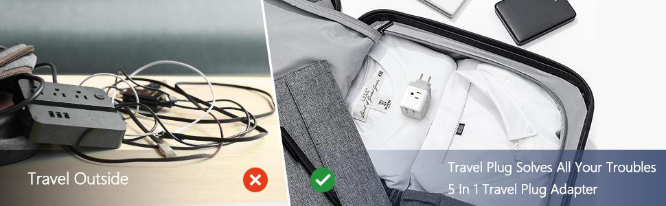 TECKIN European Travel Plug Adapter