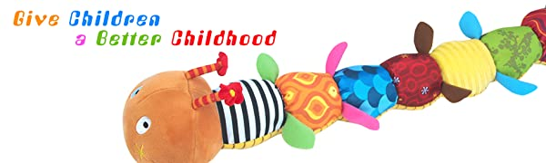 LIGHTDESIRE Musical Caterpillar Baby Toy [Newest] Crinkle Rattle Soft with Bells for infant toys