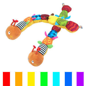 The designed with variety of colors and patterns of a gorgeous, can promote baby visual development