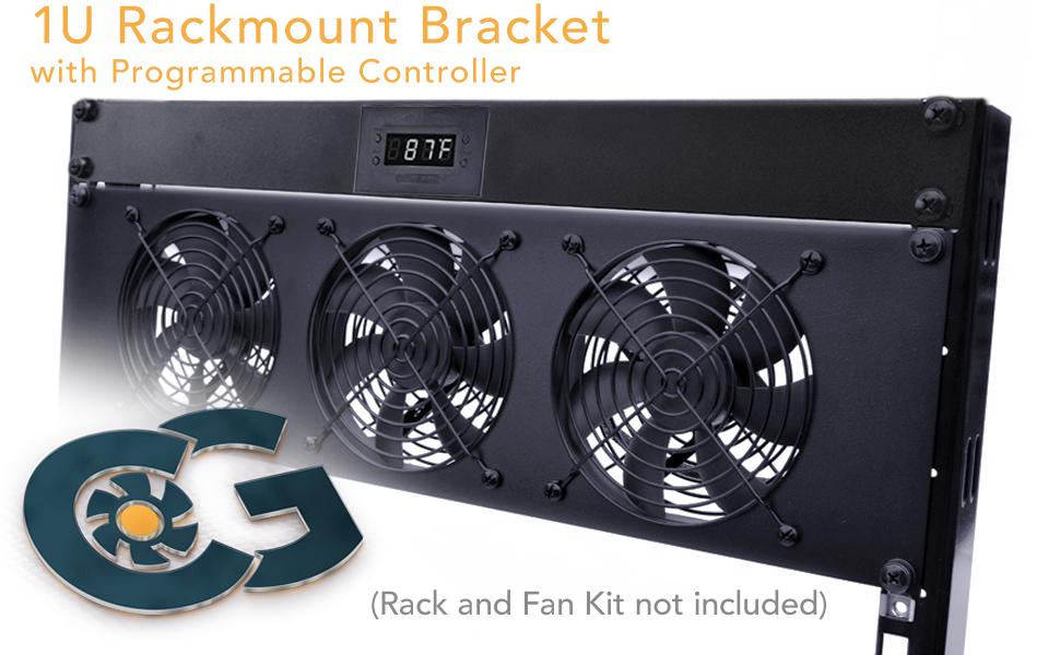 Coolerguys 1U Bracket with Programmable Fan Controller 2A PSU