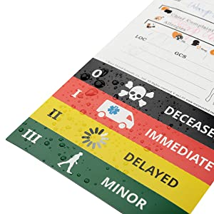 VLK-3 Waterproof Medical Triage Tag Disinfectable for Mass Casualty Incident