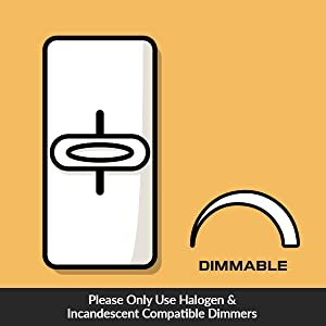 dimmable using halogen and incandescent dimmers