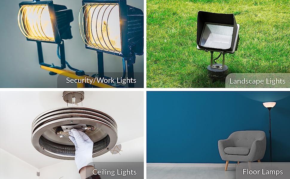 halogen r7s type j j78 j118 applications security work lights landscape ceiling floor lamps desk