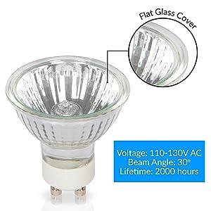 GU10 Lampe 6400K Spotlight Ampoule 3 x DEL 1.25 W Pack De 10 Omicron 49830