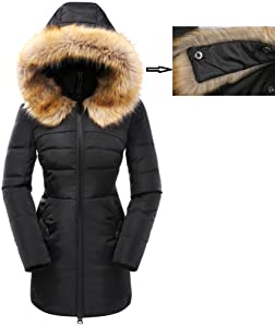 5f2888f937f Detachable high quality faux fur. The prockets are with metal buttons! The  coat disigned in accordance with the Amerian bodyshape fits you better!