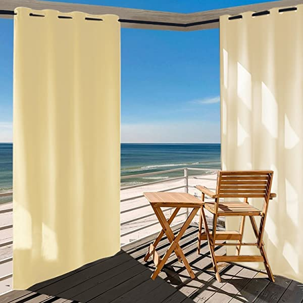 Modern And Simple Style Of Shatex Outdoor Curtains Make Them Applicable To  The Decoration Of Front Porch, Pergola, Cabana, Covered Patio, Gazebo,  Dock, ...