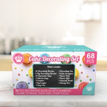 Cakebe 68 pcs Cake Decorating Supplies Kit - Icing Piping bags and Tips Cupcake Decorating Kit