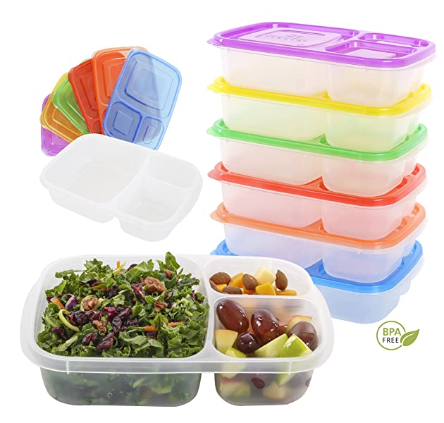 quantum produkt meal prep lunch box bento containers set of 6 kitchen dining. Black Bedroom Furniture Sets. Home Design Ideas