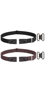 no buckle belt 2 pack