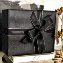 Black and Rose Gold Grosgrain Ribbon by Urban Vintage LA