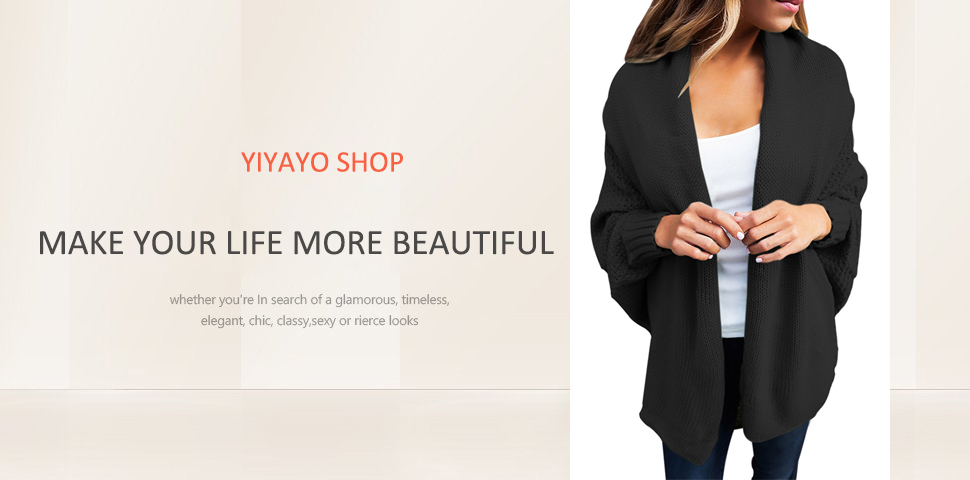eefeabfd71 YiYaYo Womens Casual Dolman Sleeves Front Cozy Knit Sweater Draped Open  Cardigan Tops