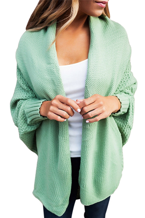 6ddce27c1f YiYaYo Womens Casual Dolman Sleeves Front Cozy Knit Sweater Draped Open  Cardigan Tops. Feature  long sleeve