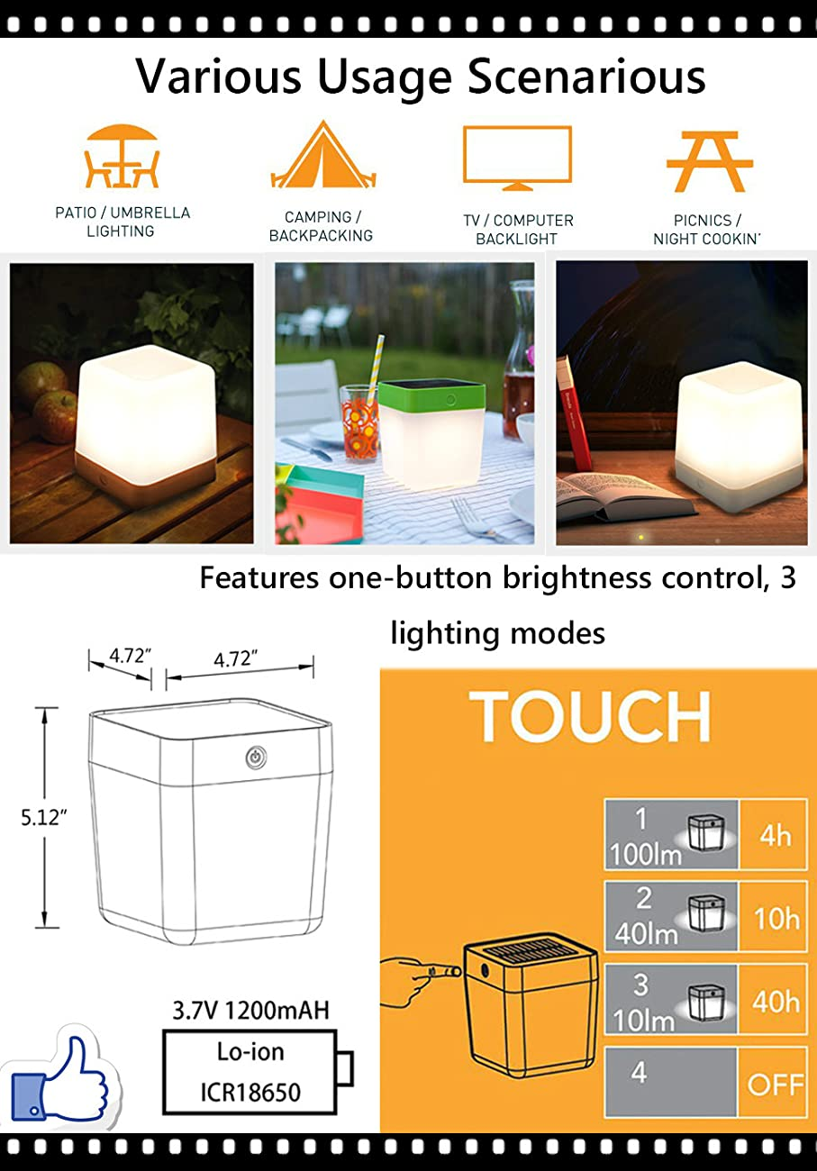 Why Buy This Solar LED Light Outdoor/Indoor Emergency Lighting Table Cube  Night Light?