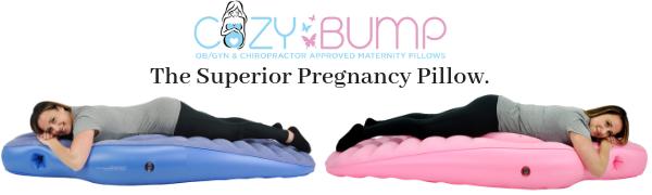 cozy bump, pregnancy pillow, the cozy bump pregnancy pillow, inflatable pregnancy pillow