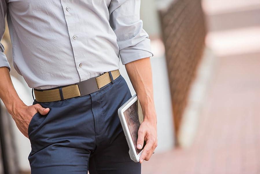Grip6 belt on male model