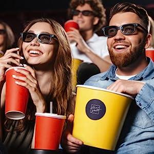 Happy couple in cinema
