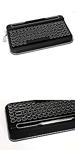 Penna Bluetooth Keyboard with White Diamond Shape Keycap(US Language) (Switch-Cherry Mx Blue, Pure White) 25