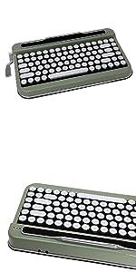 Penna Bluetooth Keyboard with White Diamond Shape Keycap(US Language) (Switch-Cherry Mx Blue, Pure White) 24