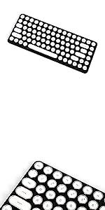 Penna Bluetooth Keyboard with White Diamond Shape Keycap(US Language) (Switch-Cherry Mx Blue, Pure White) 27
