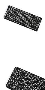 Penna Bluetooth Keyboard with White Diamond Shape Keycap(US Language) (Switch-Cherry Mx Blue, Pure White) 28