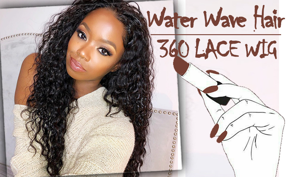 360 lace frontal wigs human hair with baby human pre pluck natural human hair wigs water wave hair