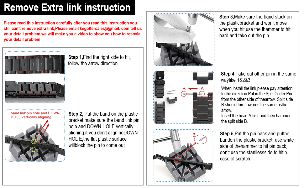 remove  extra links instructions
