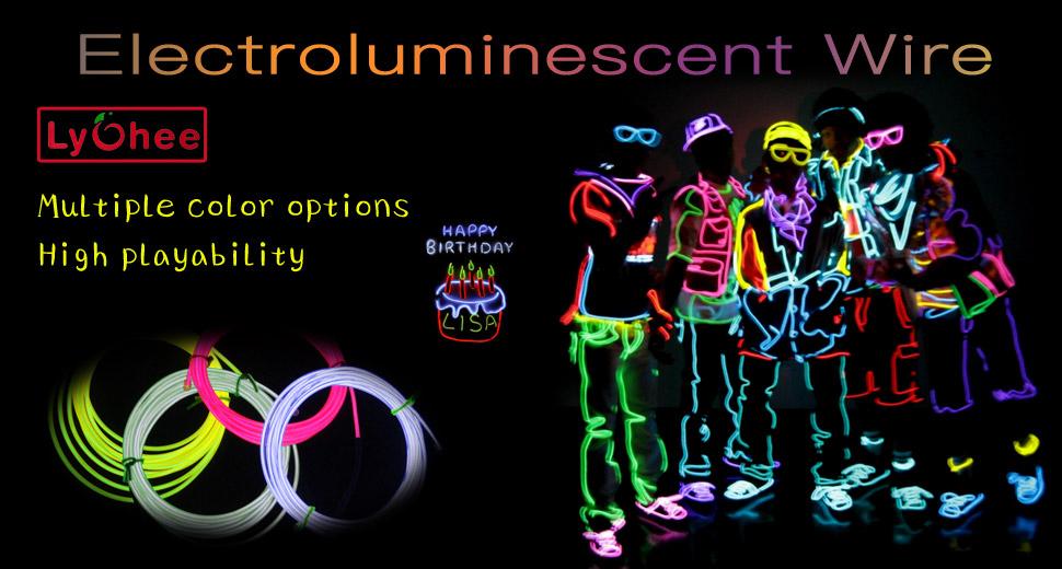 Amazon.com: Lychee RR-9FT-3M-B Neon Glowing Strobing ...