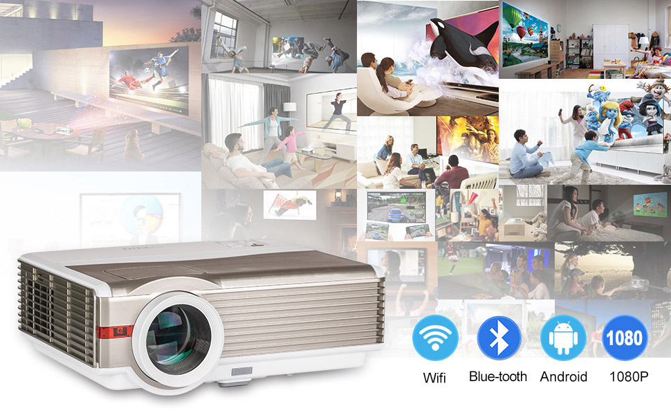 5000 Lumens Android WiFi Projector