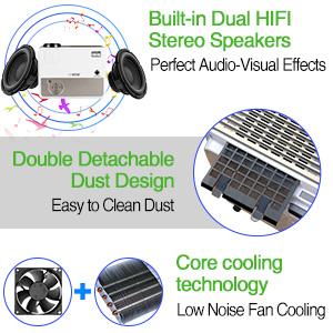 built-in speakers