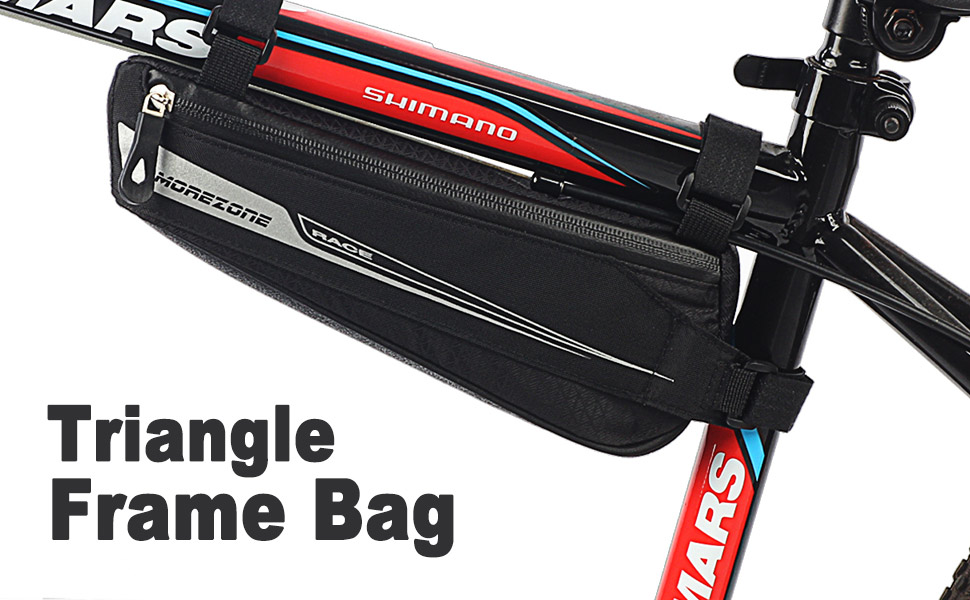 Morezone Bike Triangle Frame Bag Bicycle Pouch Under
