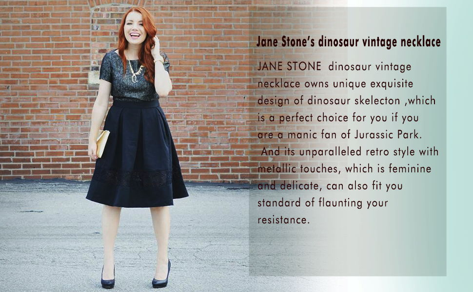 Lady Esqueleto de Dinosaurio Collar Jurassic Park declaración babero cadena de huesos de dragón RU