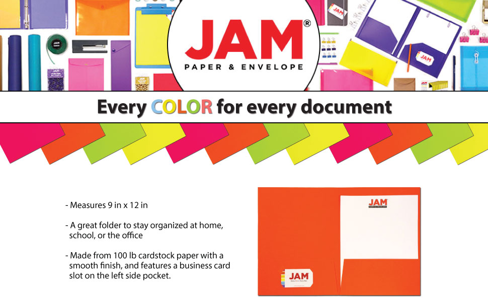Neon Highlighter Yellow 6//Pack JAM PAPER Vibrant Two Pocket Matte Cardstock Folders