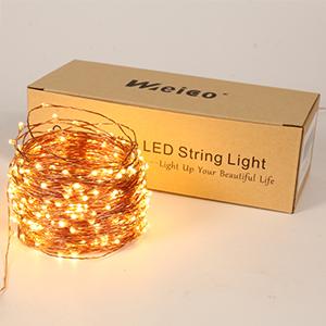 warm white string lights