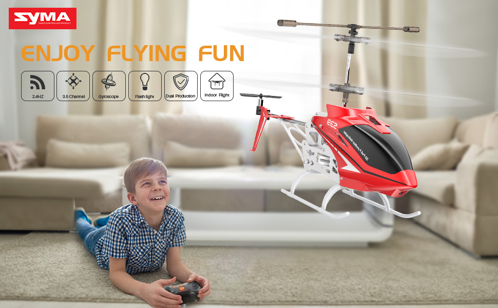 SYMA RC Helicopter Multi-Protection Drone for Kids to Play Indoor