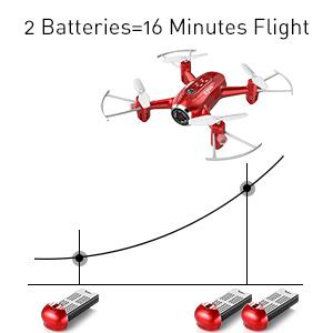 Longer flying time