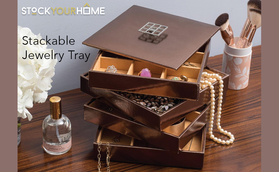 Stackable Jewelry Trays, Jewelry Organizer, Jewelry Storage, Jewelry Box,  Jewelry Trays With