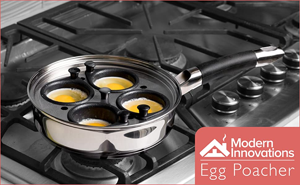 Amazon Com Egg Poacher Pan Stainless Steel Poached Egg