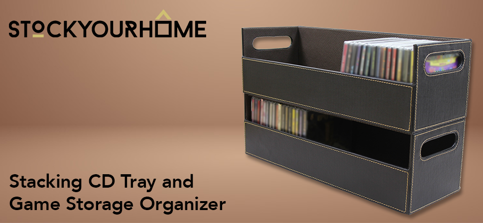 Superbe Stock Your Home Chocolate Stacking CD Tray And Media Storage Box For CD  Shelf Storage And Organization, Holds 40 CDs