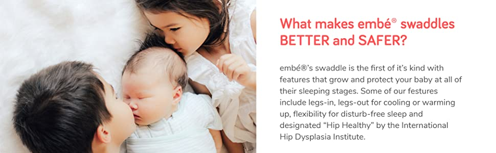 Amazon.com: embé 2 vías ajustable para bebés 100% algodón ...