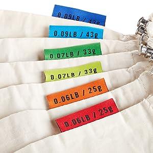 Tare Weight on Label Tag Bulk Bin Bulk Food Bags Reusable Cotton