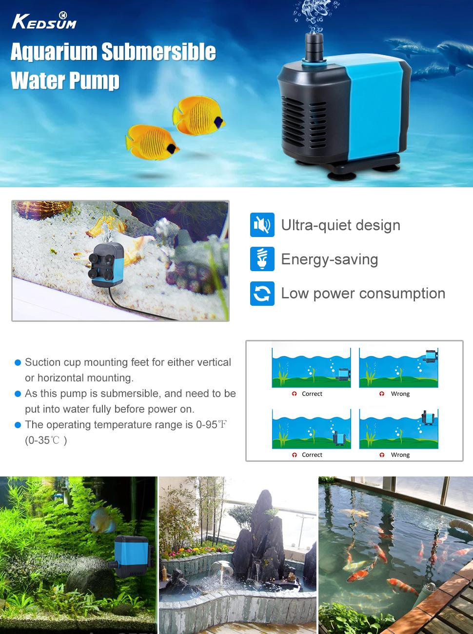 amazoncom kedsum 550gph submersible pump2500l h 40w ultra