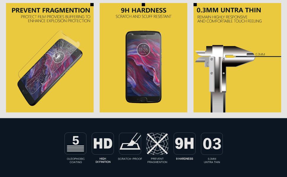 Motorola Moto X4 Glass Screen Protector b