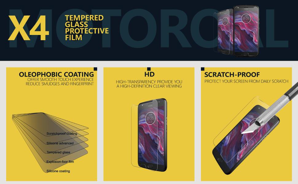 Motorola Moto X4 Glass Screen Protector a