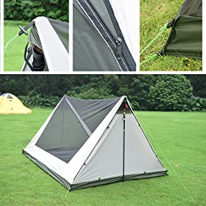 One Person Trekking Pole Tent, Ultralight Backpacking Tent