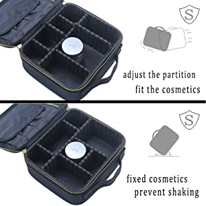 Cosmetic case compartment