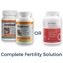complete fertility supplement, pre-natal vitamin, fertility suupplement, ovaboost, fh pro for women