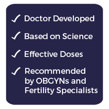 FertilAid, doctor formulated, based on science, recommended by OBGYNs