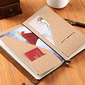 leather journal travel diary elastic bookmark dotted daily diary midori inserts paper booklets