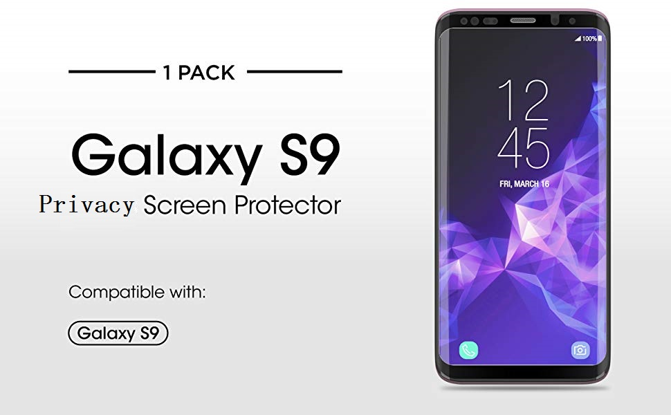 Galaxy S9 Privacy Screen Protector Glass SWINCHO Tempered Screen Cover for  Galaxy S9 Touch Senstive Anti Peeping Upgrade Version (Privacy)