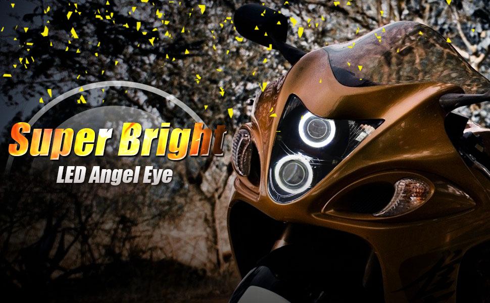 KT Headlight embly for Suzuki Hayabusa GSX1300R 2008-2019 White Angel on